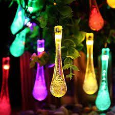 best deal on led icicle lights solar outdoor string lights 20 led icicle globe patio light for