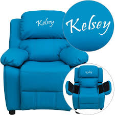 flash furniture deluxe contemporary personalized kids recliner