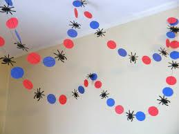 spider garland spider banner spider birthday decoration
