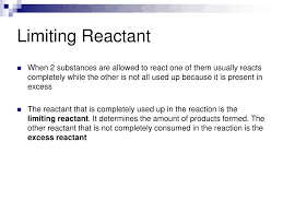 ppt limiting reactant and percent yield powerpoint presentation