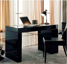 home office writing desk home office with sleek black writing desk and chair the types of