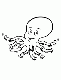 great octopus coloring page kids design galler 1676 unknown