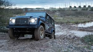 defender land rover off road 2013 land rover electric defender concept off road testing front