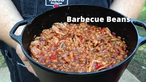 cuisine barbecue barbecue baked beans on the smoker smoked baked beans malcom