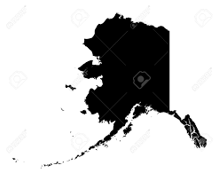 Alaska Usa Map by Detailed Isolated B W Map Of Alaska Usa Mercator Projection