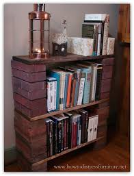 Build Wooden Bookcase by How To Build A Brick Book Shelf
