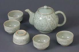 teapot set white bamboo teapot set