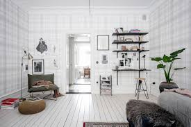 home tour white and tartan in a fascinating small apartment