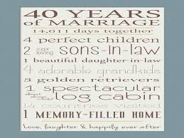 40 anniversary gift 40th anniversary gift for parents 40th ruby anniversary 40th