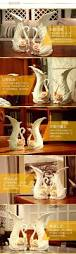 Home Decor Figurines Ceramic Swan Fashion Creative Abstract Flowers Vase Pot Home Decor