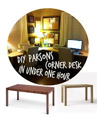 Corner Sewing Table by Diy Parsons Corner Desk In Under One Hour It U0027s Super Easy To Make