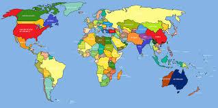 Australian World Map by Map Of Australia On World Map Partywithorangecounty