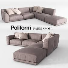 Poliform Sofa Bed Poliform Paris Seoul 3d Models Pinterest Seoul Banquette