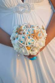 wedding bouquets with seashells turquoise seashell wedding bouquet wedding bouquet bridal