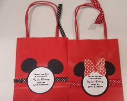 mickey mouse gift bags mickey candy bags etsy