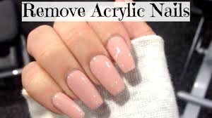 how to remove acrylic nails at home easy shona forsey youtube