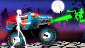 Scary Halloween Monsters by Halloween Scary Trucks Street Vehicles For Kids Monster Trucks