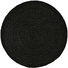 Brown Round Rugs Hand Woven Black Jute Braided Rug 6 U0027 Round Free Shipping Today