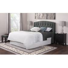 bed wingback linen headboard headboard with sides wing beds king