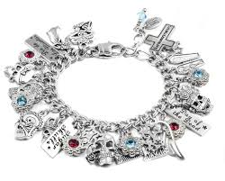 skull bracelet charm images Day of the dead charm bracelet with sugar skull katrina calavera JPG