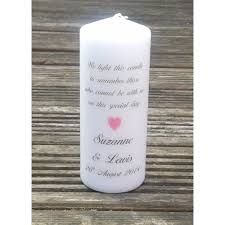 Wedding Memorial Larissa Personalised Wedding Absence Or Memorial Candle