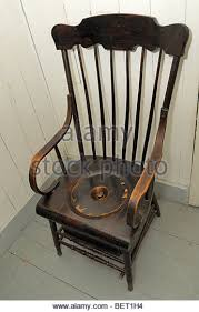 antique toilet chair commode chair stock photos commode chair