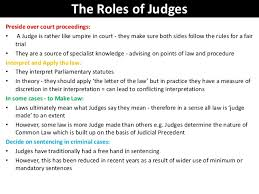role of the judiciary