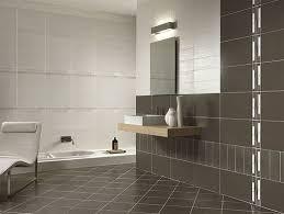 Light Wood Floating Bathroom Vanity With Exposed Brick And Green - Modern bathroom tiles designs