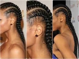 hair style corn rolls simple and easy cornrow tutorial youtube