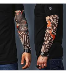 acdc tatoos a set of 2 tattoo sleeves tiger and skull