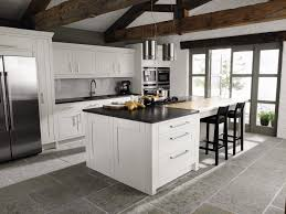 black quartz countertop kitchen island contemporary style kitchen