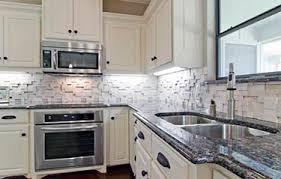 White Cabinets Granite Countertops by Sapphire Blue Granite