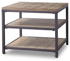 wonderful modern wood and metal end table the calvin simple high