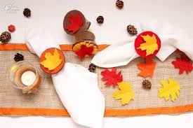 thanksgiving crafts make felt and burlap napkin rings