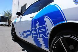 Dodge Challenger Decals - dodge challenger 08 14 blue vinyl mopar graphics for both sides of