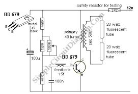 12v 6 12 watt fluorescent tube neon lamp inverter circuit