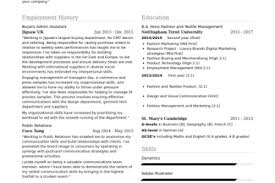 Cover Letter For Fashion Buyer by Fashion Resume Best 25 Fashion Resume Ideas Only On Pinterest