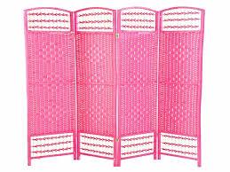 Ebay Room Divider - pink 4 panel hand made wicker room divider separator privacy