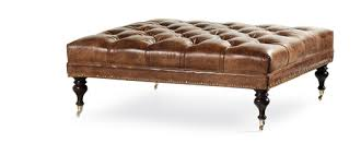 round leather tufted ottoman leather tufted ottoman dosgildas com