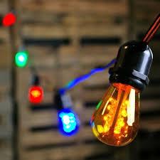 led edison string lights 100 foot black wire multi color commercial led edison string lights