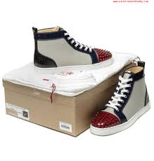 christian louboutin genuine lou spikes men u0027s sneakers http www