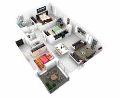 design house layout 3d three bedroom house layout design plans 23034 interior ideas