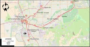 Sacramento Light Rail Map Sacramento 2012