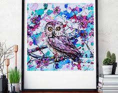 colorful owl painting 16 20 by kelsey rowland owl art colorful