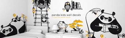 kids wall decals wallpapers and decor accessories by the brand e glue packs of kids wall decals panda decals pack