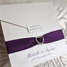 wedding invitations with ribbon magnetic pocketfold ribbon heart wedding invitation includes