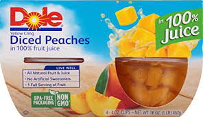 dole fruit bowls dole fruit bowls diced in 100 fruit juice 4 oz 4
