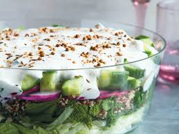 middle eastern seven layer salad recipe kristin donnelly food