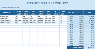 Payment Schedule Excel Template Free Daily Schedule Templates For Excel Smartsheet