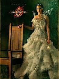 katniss everdeen wedding dress costume hunger catching gowns resemble mcqueen